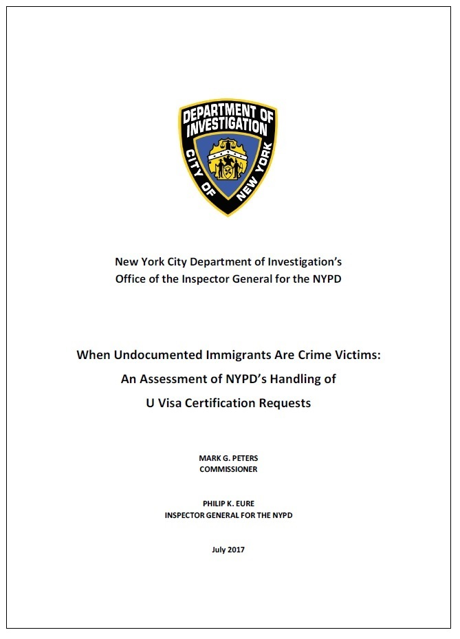 Nypd Inspector General Reports