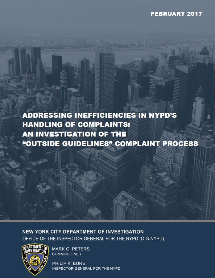 NYPD Inspector General - Reports