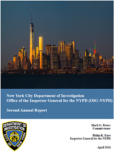 OIG-NYPD Second Annual Report - April 1, 2016