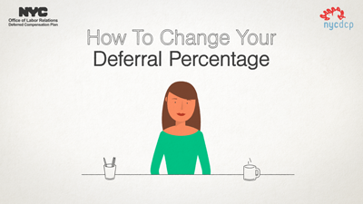 How to Change Your Deferral Percentage
