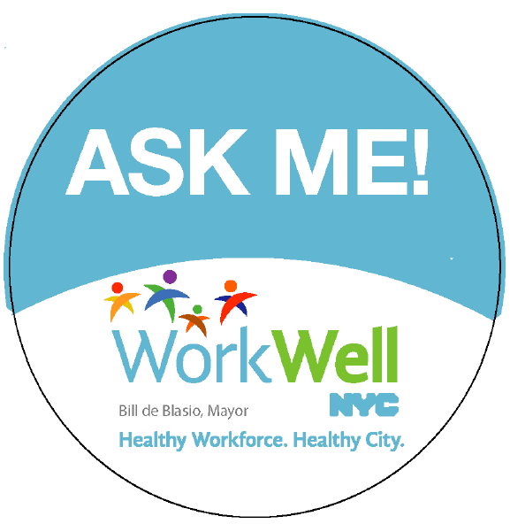 "Circular image with the words ""Ask Me"""