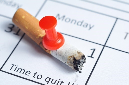 Broken Cigarette on Calendar