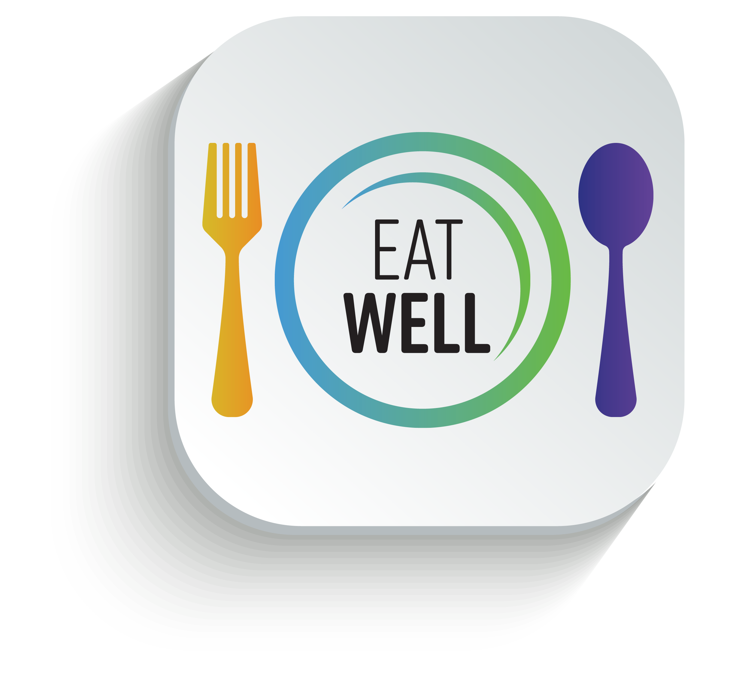 Eat Well - Plate with Fork and Spoon