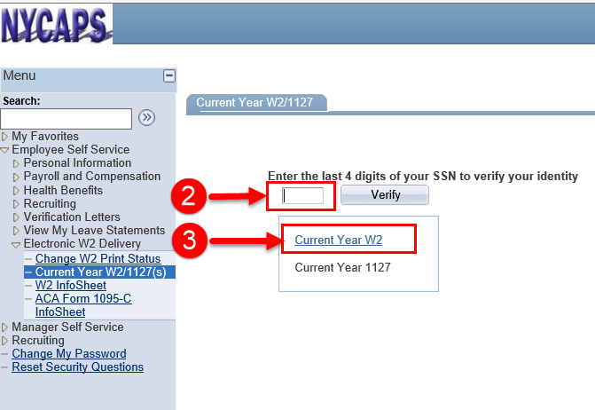 ess nycaps Get Your W-2 Statement - OPA