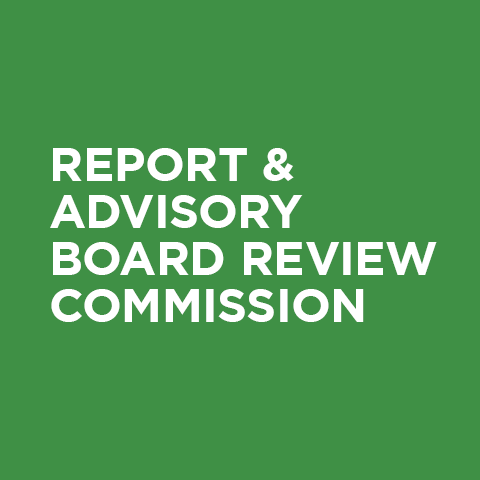 Report & Advisory Board Review Commission
