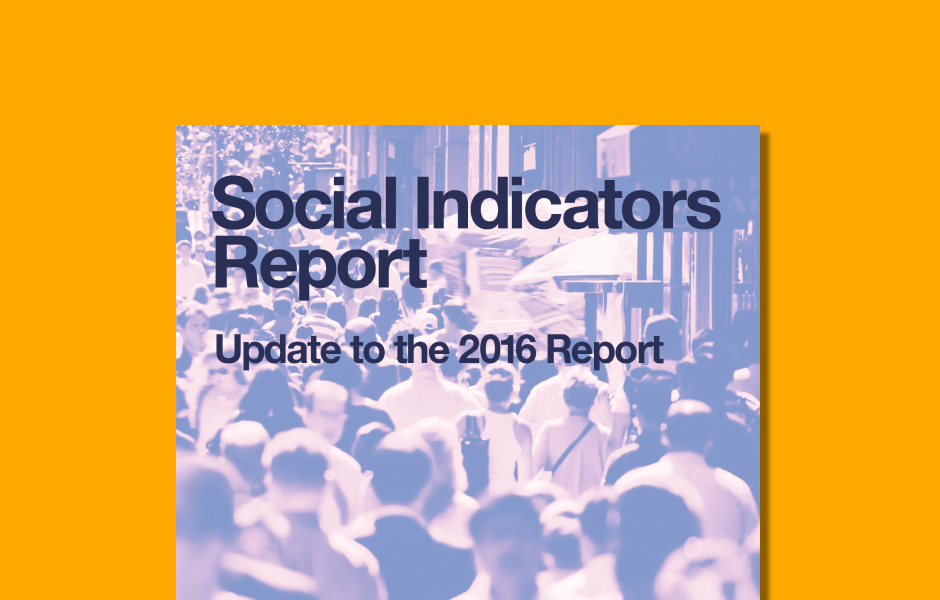 Cover image of the updated NYC's Social Indicator Report originally released in 2016.