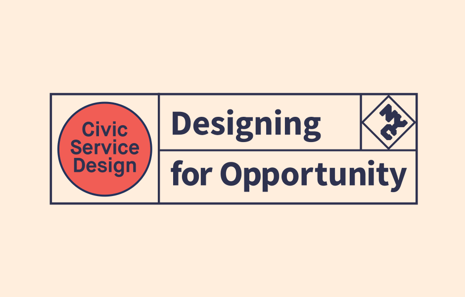 "Logo for the ""Designing for Opportunity"" launch."