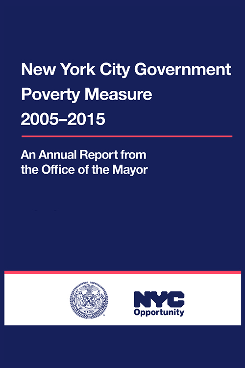 Cover of the NYC Government Poverty Measure 2005-2015 Report