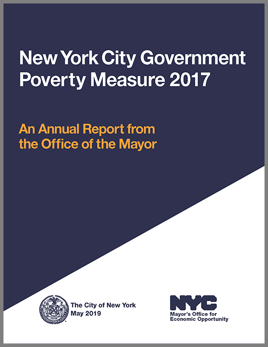 Cover of the NYC Government Poverty Measure 2005-2017 Report