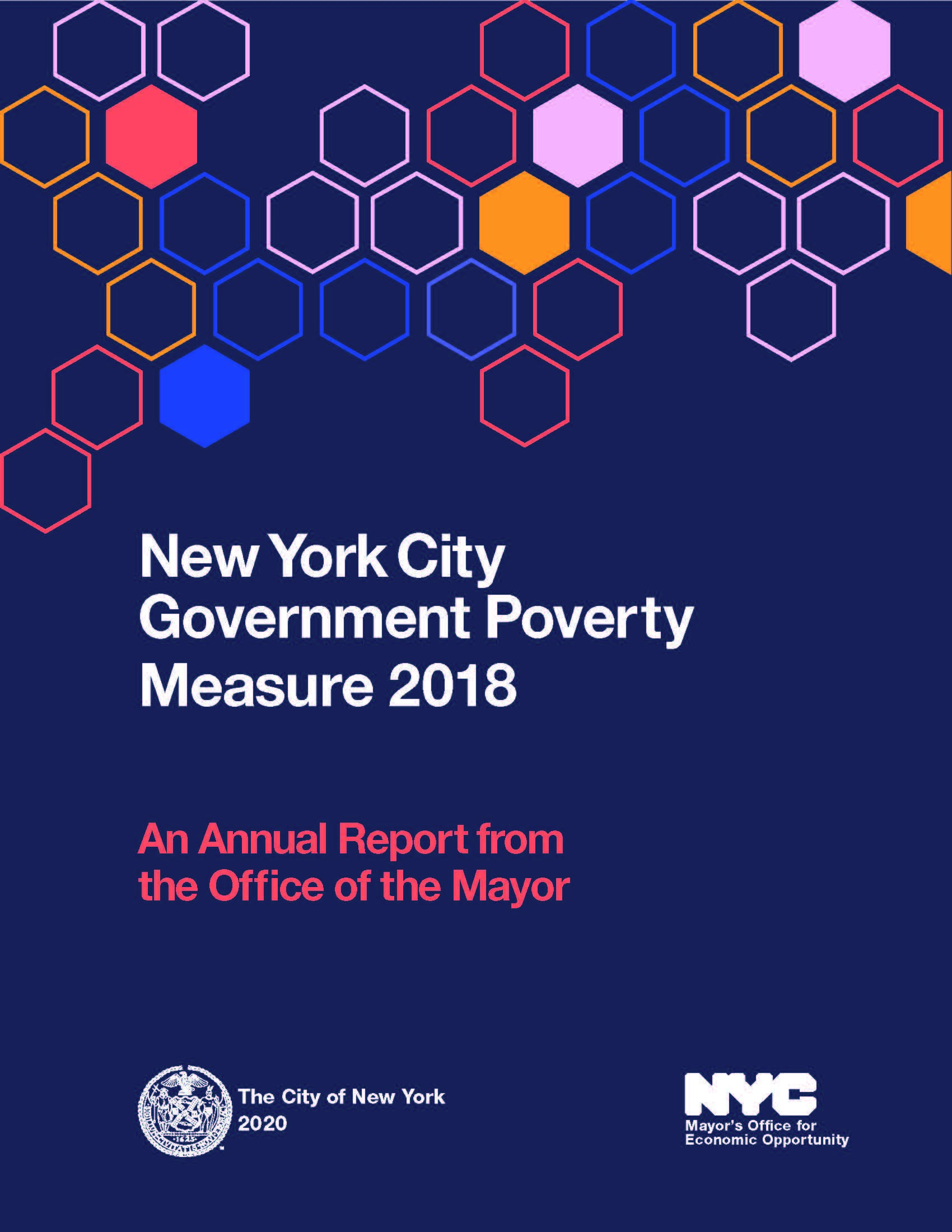 Cover of the NYC Government Poverty Measure 2005-2018 Report