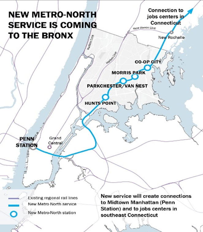 New Metro-North Service is Coming to the Bronx