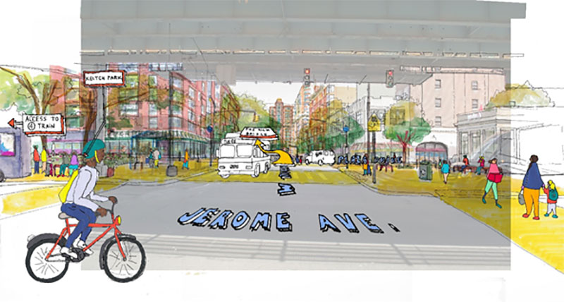 Rendering of Jerome Avenue