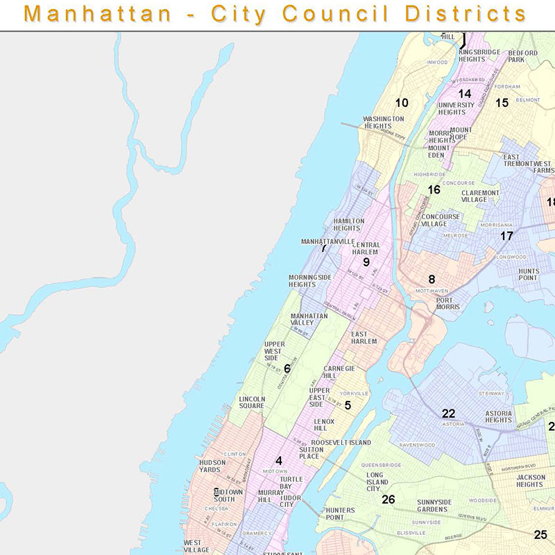 City Council Districts Maps by Borough