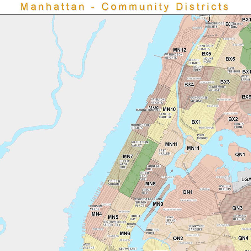 Community District Maps by Borough
