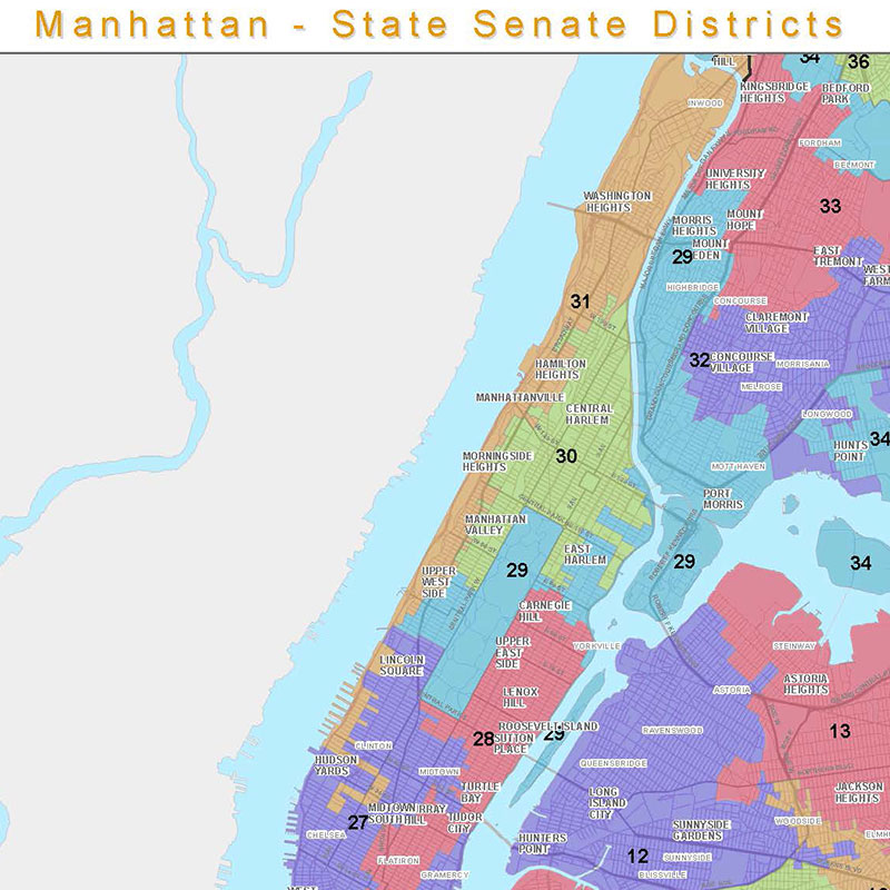 State Senate Districts Maps by Borough