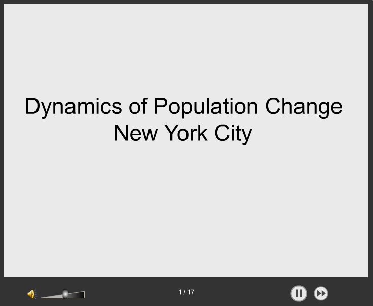 Dynamics of Population Change, New York City