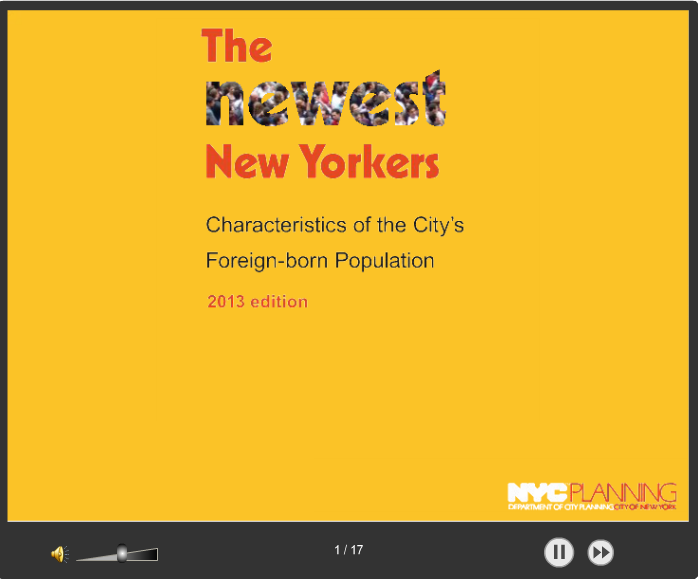 The Newest New Yorkers - 2013 Edition Presentation