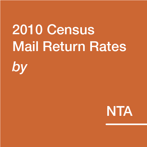2010 Census Mail Return Rates by NTA