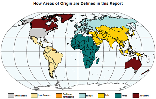 How Areas of Origin are Defined in this Report