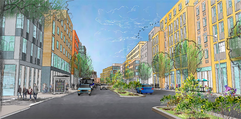 Rendering of Bay Street Corridor