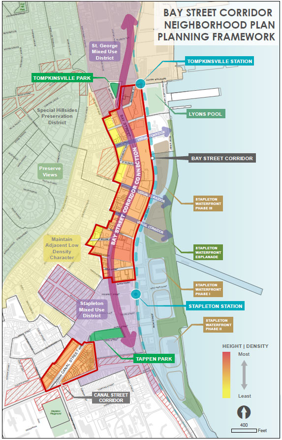 Bay Street Corridor Planning Framework Map