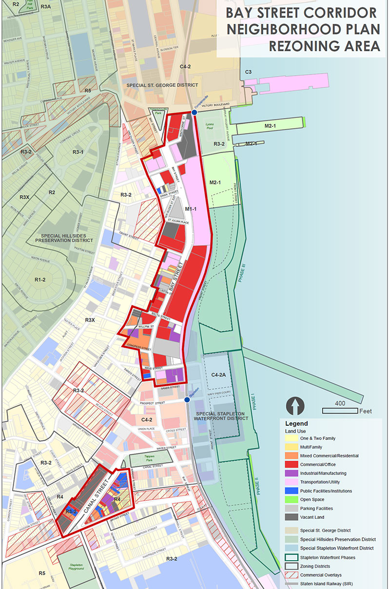 Bay Street Corridor Existing Zoning Map
