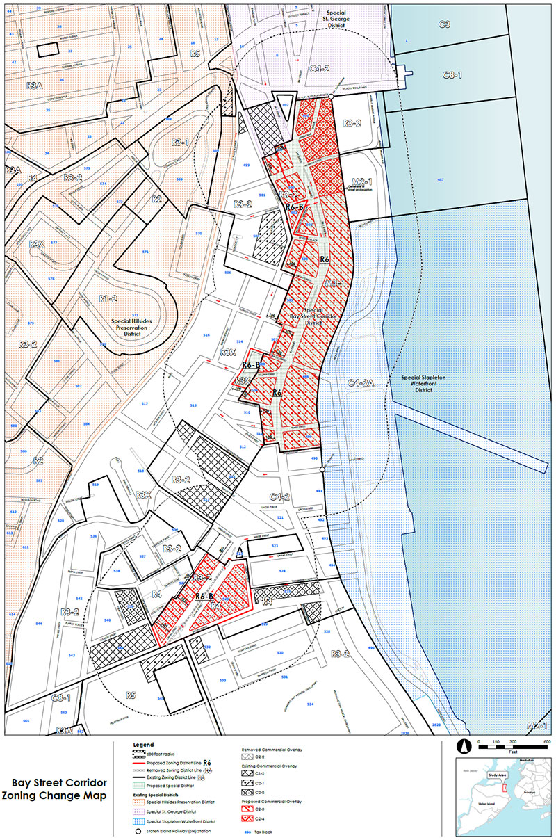 Bay Street Corridor  Proposed Zoning Map