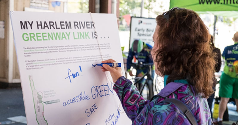 Public Outreach for the Harlem River Greenway Link.