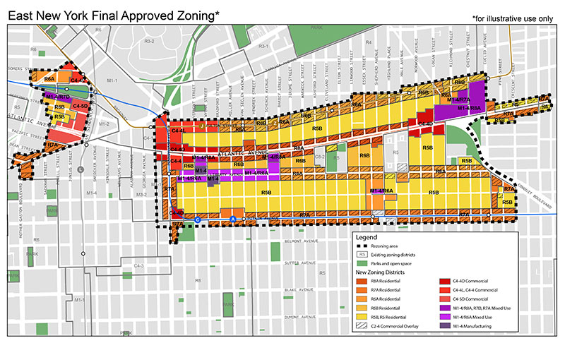 East New York Approved Zoning Map