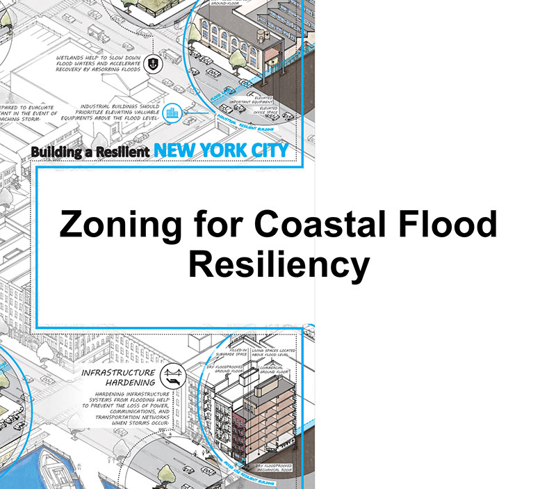 "Slide cover page. Text reads ""Zoning for Coastal Flood Resiliency"""