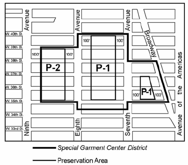 Special Garment Center District Existing Zoning Map