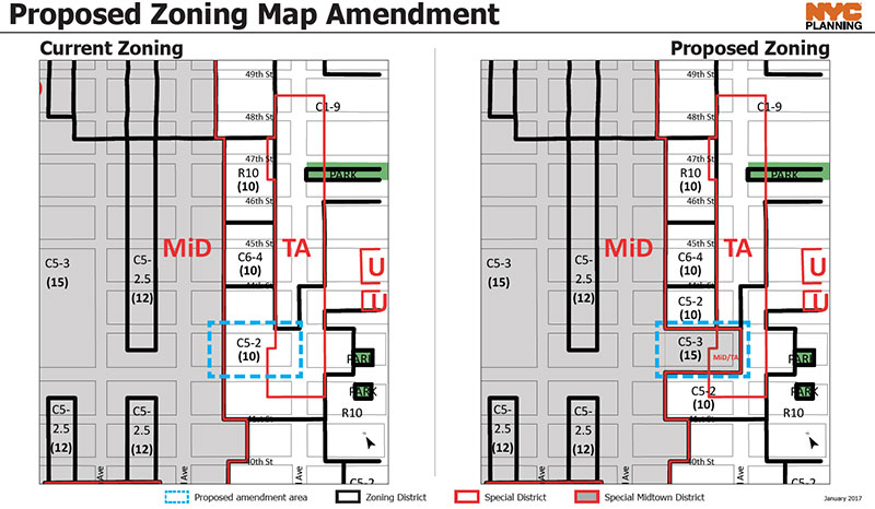 East Midtown Proposed Map Amendment