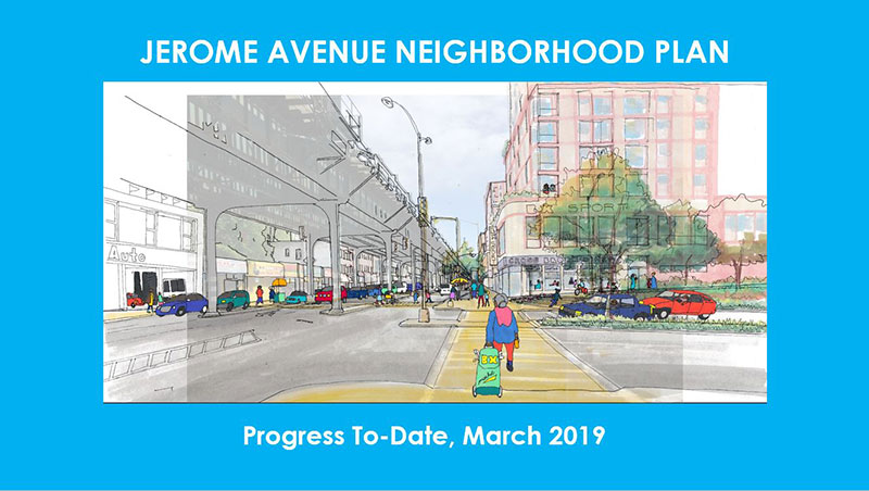 cover of the Jerome Avenue Neighborhood Plan Progress