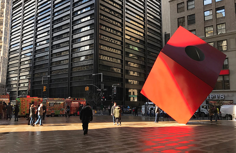 Artwork: Noguchi Cube at 140 Broadway