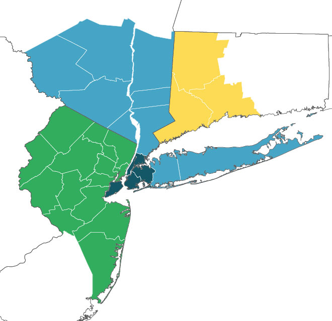 NYC Region Map