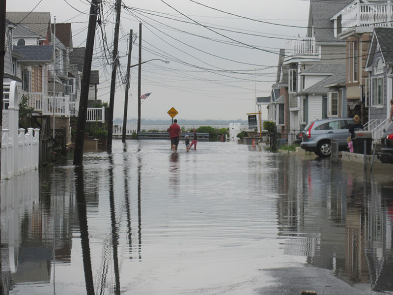 Flooded street end in Broad Channel