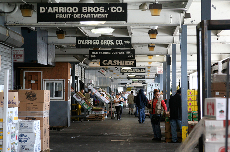 Produce Market front docks at Hunts Point