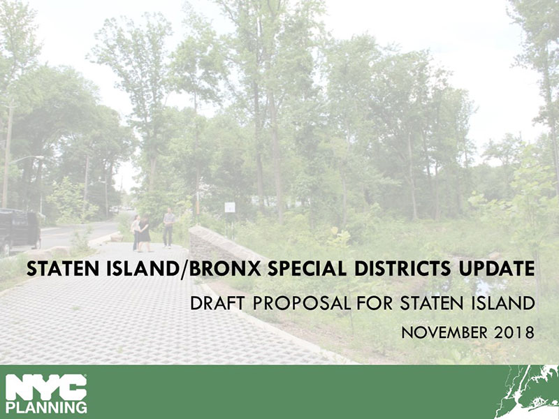 Link to Special Natural Area District Update for Staten Island