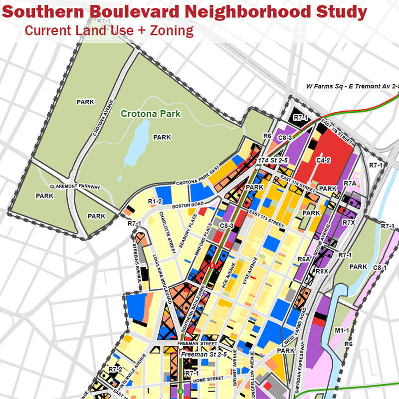 Current Land Use and Zoning Map