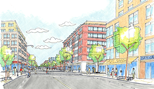 Proposed land use changes will bring new residential and commercial mixed-use development to Pitkin Avenue