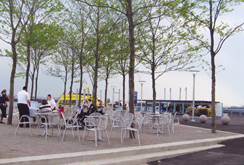 Waterfront public access area at IKEA. Red Hook, Brooklyn