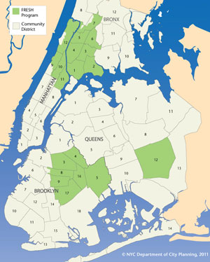 Map Of Manhattan And Bronx.Zoning Districts Tools Fresh Food Stores Dcp