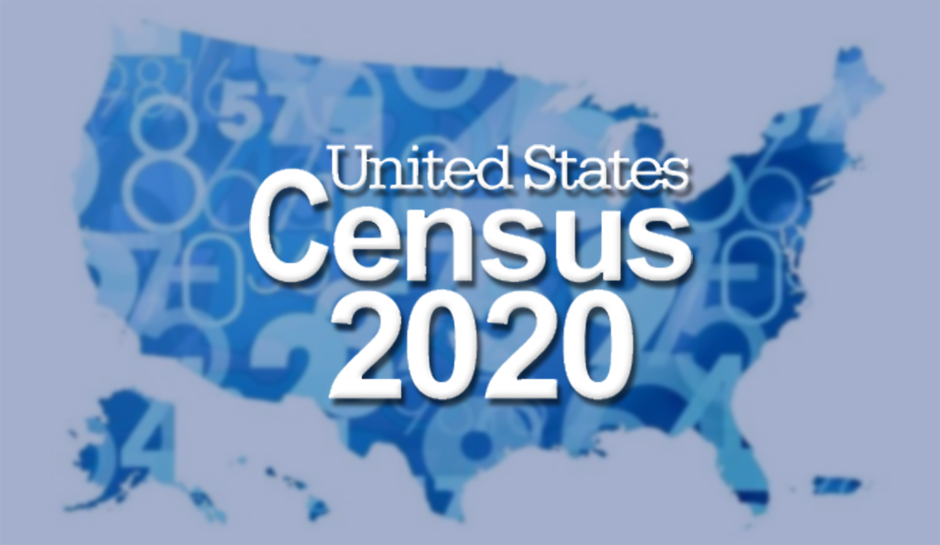 This is the 2020 Census Header for the job application page.