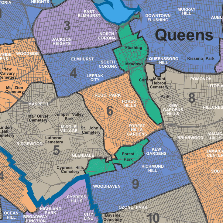 on queens map