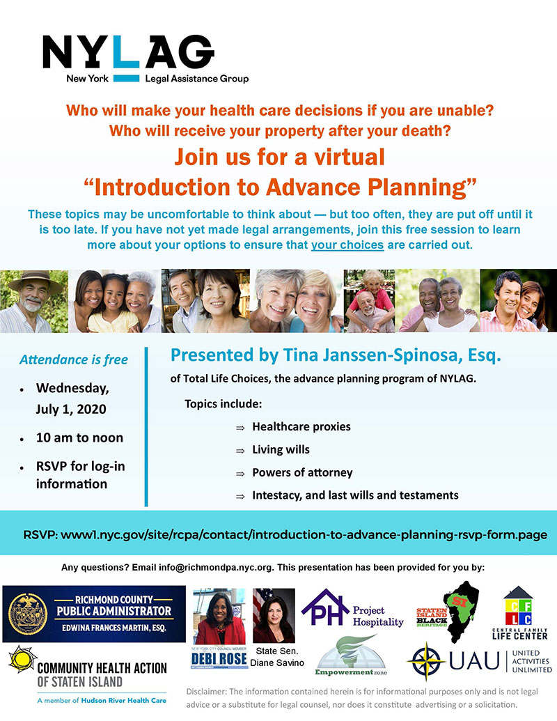 Introduction to Advance Planning Flyer