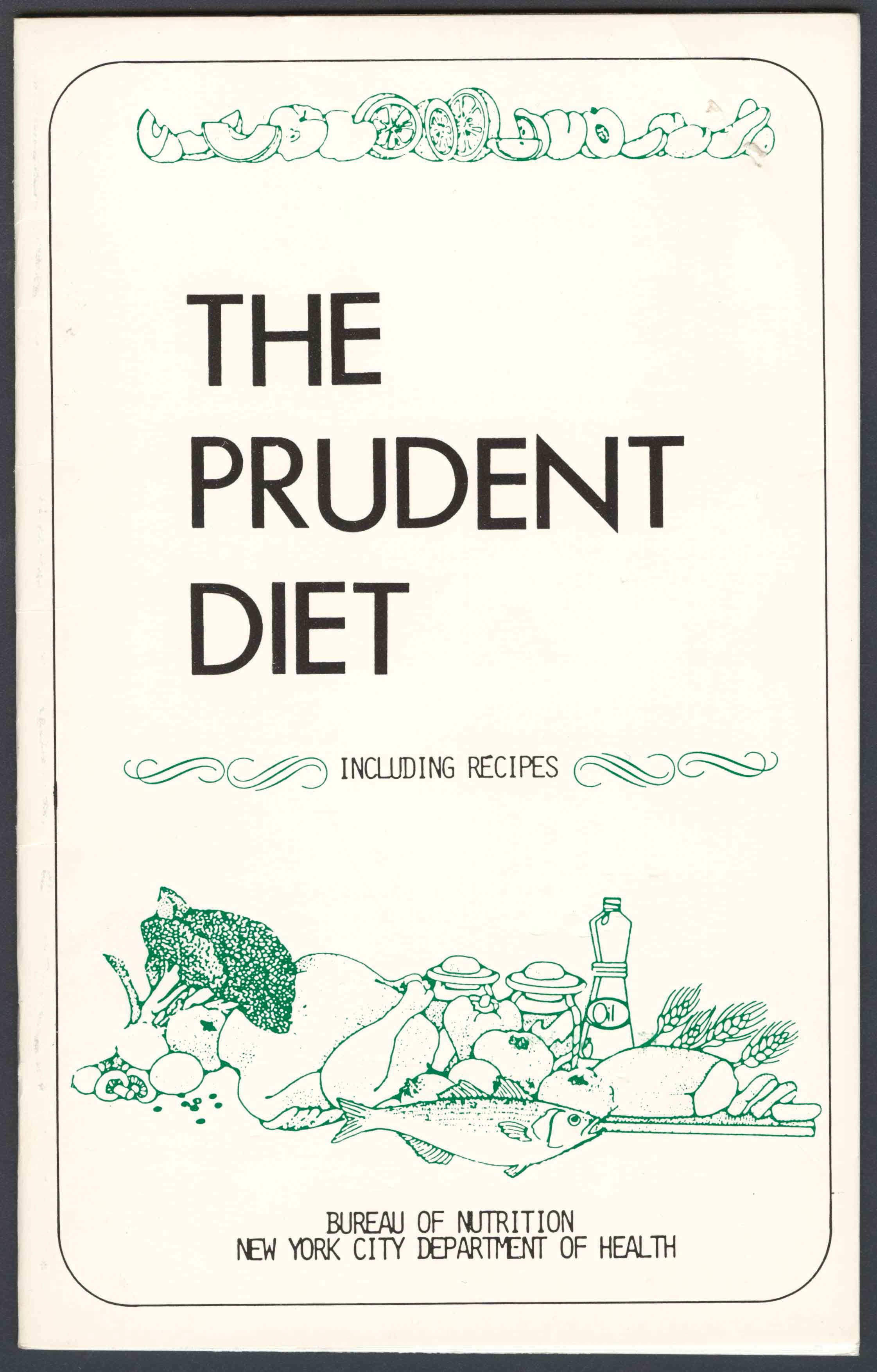 Cover of The Prudent Diet from Bureau of Nutrition, Department of Health