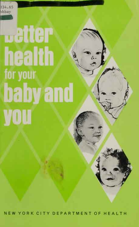 Cover of 'Better Health for your baby and you' published in 1975.
