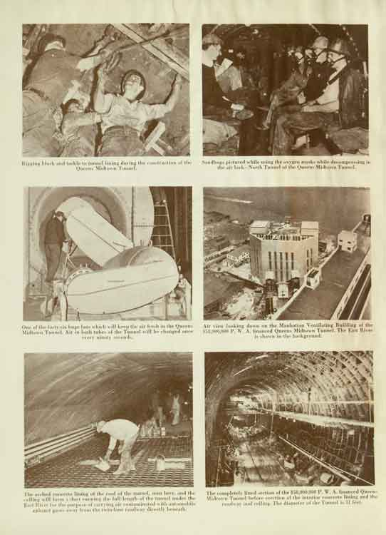 Page from the opening ceremonies booklet for the Queens Midtown Tunnel