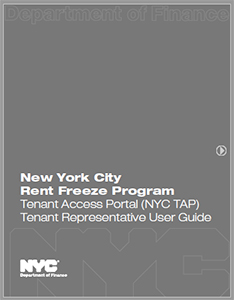 Cover image of the NYC TAP Tenant Representative Guide