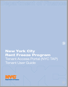 Cover image of the NYC TAP TenantGuide